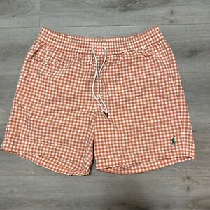 Polo Ralph Lauren Swim Trunks Mens Large Salmon Swimming Shorts