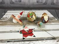 Holiday Christmas Tree 5 Set Random Assortment Santas Decoration Ornaments