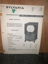 Sylvania Model 1-090 Television,Service Data,parts List,etc.