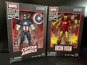 Marvel Legends 80th Anniversary Captain America Iron Man NEW Walmart set figures