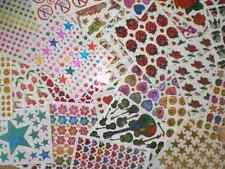20 Bögen à 13 x 10 cm Aufkleber Sticker Basteln Kinder Konvolut Sammlung