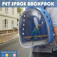Pet Parrot Backpack Carrier Easy Carry Stands Wooden Bird Travel Bag Cage Nest