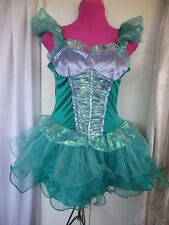 Disney Little Mermaid Ariel Dress  Costume Halloween  Sz M 7-9 (WB-23)