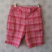 Women's Pink Plaid Puma Shorts
