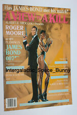 Original James Bond a View to Kill Japanese Notepad Japan Roger Moore Grace Jone