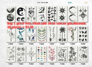 Kids' Waterproof Fashion Art Fake Body Temporary Tattoo Stickers Removable USA