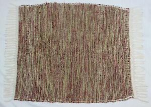 Crossnore School Inc. Beautiful Hand Throw Rug Woven Red / Green / White