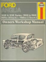 Ford Anglia 105E & 123E Saloon Van & Estate Haynes Workshop Manual 1959-1968