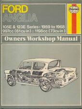 Ford Anglia 105E & 123E Saloon Van & Estate Haynes Workshop Manual 1959-1968