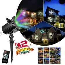 Led Projector Light Show Halloween Xmas Holiday Decoration 12 Slides Dynamic New