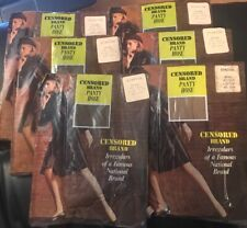 Lot Of 6 Vintage New Censored Brand Pantyhose Medium 4'10-5'5 5x Brown 1x Beige