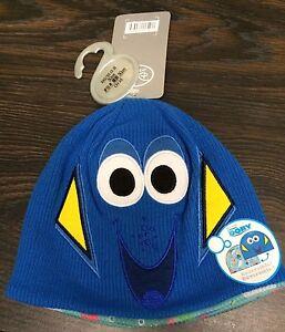 Disney Store Finding Dory Reversible Kids Hat PIXAR Unisex sz XXS XS 2 - 3