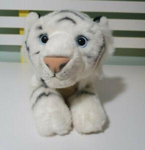 Aurora TIGER PLUSH TOY MIYONI Stuffed White Tiger 42CM LONG FURRY NOSE OLD VERSI