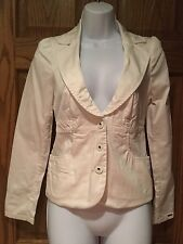 GUESS JACKET BLAZER WITH SILK TIE IN THE BACK OFF WHITE/CREAM SIZE S EUC