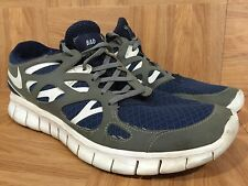 Custom🔥 Nike Free Run+ 2 NikeID Bad Kitty Obsidian Blue Wolf Gray Sz 9.5 Womens