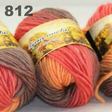 Sale LOT 3 Skeinsx50gr NEW Chunky Hand-woven Knitting Colors Scores Wool Yarn 12