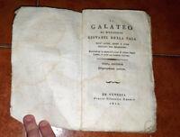 GIOVANNI DELLA CASA IL GALATEO COLL'ALTRE PROSE E RIME ED. SILVESTRO GNOATO 1810