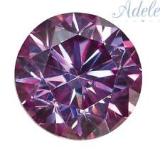 Loose Moissanite 7mm 1.25ct Purple Round Shape Certified USA