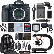Canon EOS 7D Mark II 20.2MP Digital SLR Camera Body + 64GB Pro Video Kit