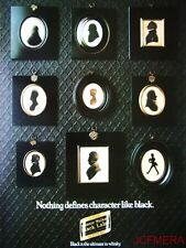 1979 Johnnie Walker 'Black Label' Scotch Whisky Advert #1 - Original Print AD