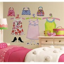 DRESS-UP Closet 57 BiG Wall Decals  Dress Purse Shoes Room Decor Sticker Fashion
