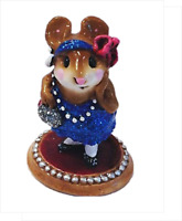 Wee Forest Folk ZELDA Blue flapper Dress Pearl Base Miniature Mouse