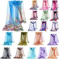 2019 Fashion Stylish Women Long Soft Silk Scarf Chiffon Scarf Wrap Shawl Scarf