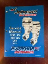 "Johnson Evinrude Outboards ""Ec"" 125C,130,200,225,250 Service Manual P/N 520212"
