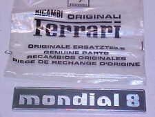 Ferrari Mondial Name Plate Emblem Badge_Rear_60725400_ Mondial 8_GENUINE