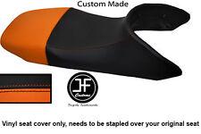 BLACK AND ORANGE VINYL CUSTOM FITS HONDA TRANSALP XL 650 SEAT COVER ONLY