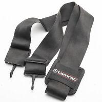 Tamrac Kameragurt carrying strap breit in Schwarz universal mit Karabinerhaken