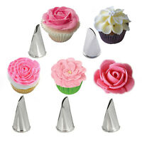 5Pcs/Set Flower Rose Icing Piping Nozzles Cream Petal Pastry Cakes Decorate Tips