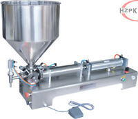 Semi Auto Paste Filling Machine Piston Filler For Cosmetic Honey 10-100 ml 110 V