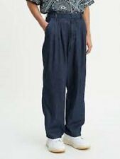 LEVI'S Baggy Trouser Pants Made & Crafted 80s Pleated Blue Jeans Mens 29/34 $168