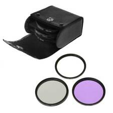 58MM CPL UV FLD Set Lens Filter With Bag For Nikon Sony Canon Pentax Camera