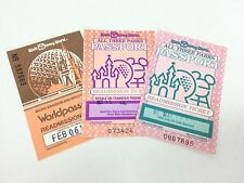 3 Walt Disney World Readmission Tickets Magic Kingdom Epcot Center MGM Studio