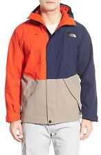 NWT The North Face Turn It Up Jacket in Cosmic Blue - Brindle Brown - Orange L