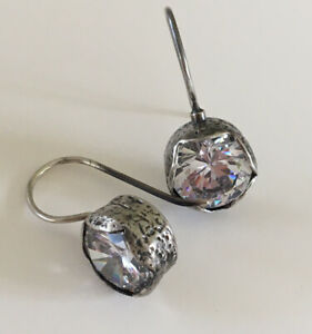 """SILPADA Cinema Star CZ Sterling Silver Earrings W2393 Matches """"Queen for a Day"""""""