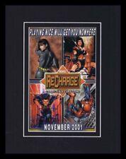 2001 Marvel Recharge Framed 11x14 ORIGINAL Vintage Advertisement Spiderman