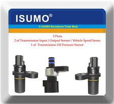 3 Pcs Transmission Oil Pressure Sensor & Transmission Input Output Speed Sensors