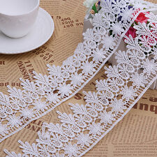 2 Yards Lace Trim Ribbon For Wedding Bridal Dress Embroidered Sewing Craft
