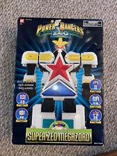 Power Rangers Zeo Super Zeo Megazord *in box missing one robot