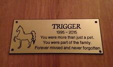 Brass effect Horse Memorial Bench Plaque