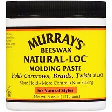 Murray's Beeswax Natural Loc Molding Paste Holds Cornrows,Braids,Twists,Locs 6oz