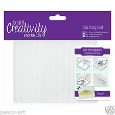 Papermania clear acrylic stamp block A6 + grid for mounting rubber stamps