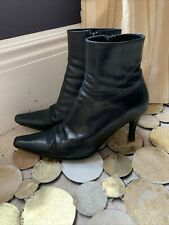 Hobbs ladies black leather Ankle  Boots, size 38.5 Uk 5.5