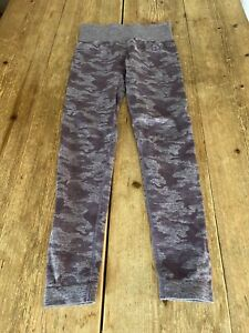 Gorgeous GYMSHARK Purple Camouflage Print High Waisted Gym Fitness LEGGINGS, S