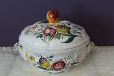 "COPELAND SPODE GAINSBOROUGH 7-1/2"" COVERED HANDLED SERVING / VEGETABLE BOWL"