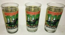 1989 KENTUCKY DERBY GLASS TRIO - FREE SHIPPING - MINT CONDITION