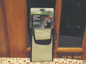 GREY BLACK PACSAFE SAFE TRAVEL WALLET ORGANISER BAG SAFE 200 RFID $85 NEW